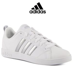 Adidas Art White Three Stripe Womens Sneakers